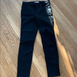 "Madewell black jeans 9""high rise"